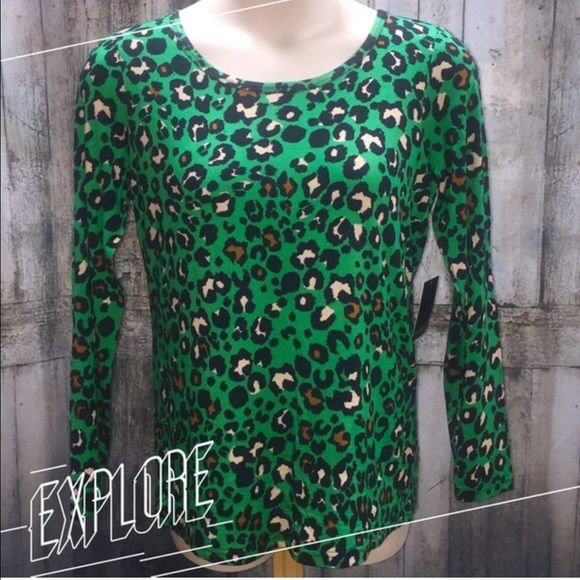 HP 8/24EMERALD ANIMAL PRINT TEE Very high quality, soft tee in a beautiful green animal print. 95% rayon/5% spandex PLEASE DO NOT BUY THIS LISTING! I will personalize one for you. THREE LEFT Eloquii Tops