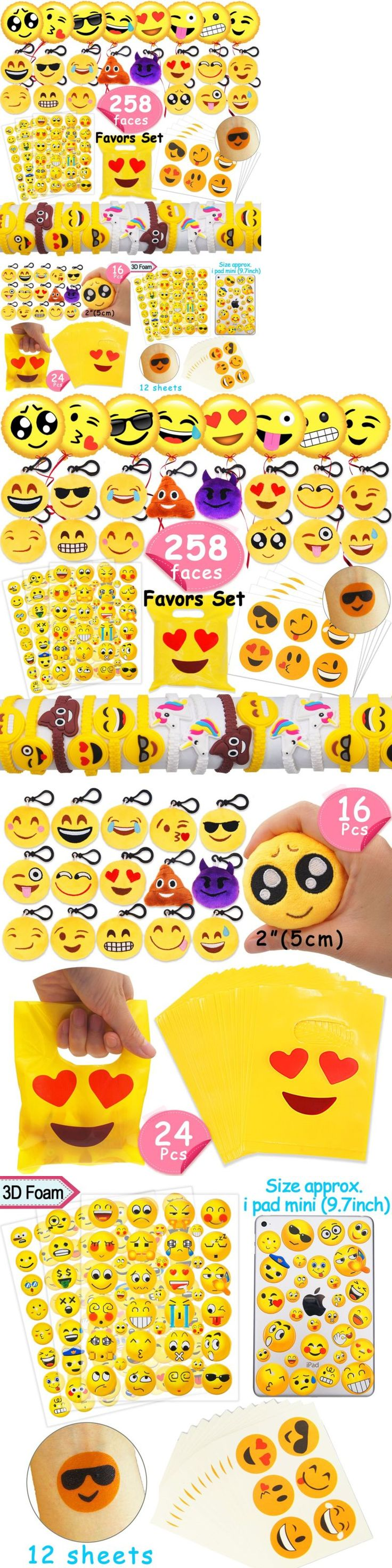 Favors and Party Bag Fillers 26385: Melonboat Emoji Party Favors Supplies 258 Faces Jumbo Pack Backpack Keychain Set -> BUY IT NOW ONLY: $33.13 on eBay!