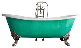 "'The Cathryn Adele' 73"" Cast Iron Slight Double Slipper Tub from Penhaglion - traditional - bath products - by Penhaglion Inc."