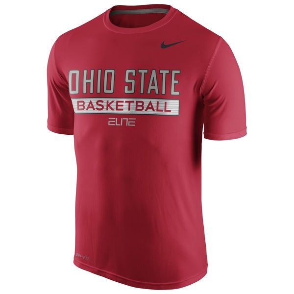 Ohio State Buckeyes Nike 2015 Elite Basketball Practice Performance T-Shirt - Scarlet - $27.99