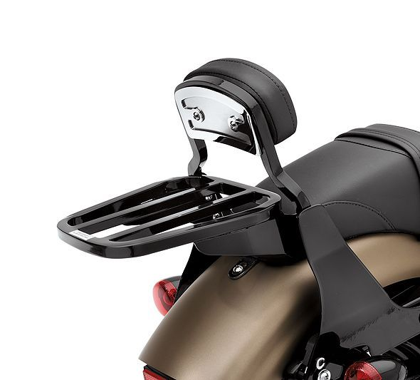 Gloss Black Tapered Luggage Rack-53510-07 | Luggage Racks | Official Harley-Davidson Online Store