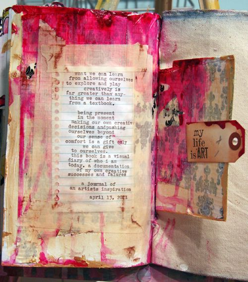 """Art Journal. See my board """"Journals & Art Books"""" for art journal idea starters. Follow this link for extraordinary examples & ideas."""