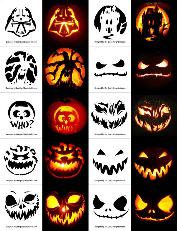 220 Free Printable Pumpkin Carving Stencils Patterns Designs Faces Ideas