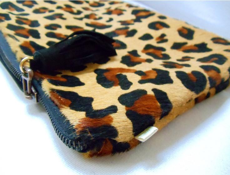 Leopard leather clutch  http://www.franmaturana.com/p/shop.html#