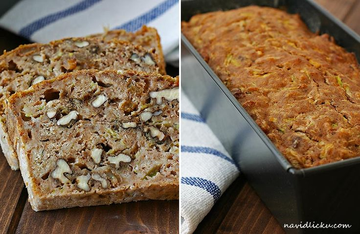 Zucchini Bread with Gingerbread Spice / Cuketový chlebíček s perníkovým kořením | Na vidličku food blog