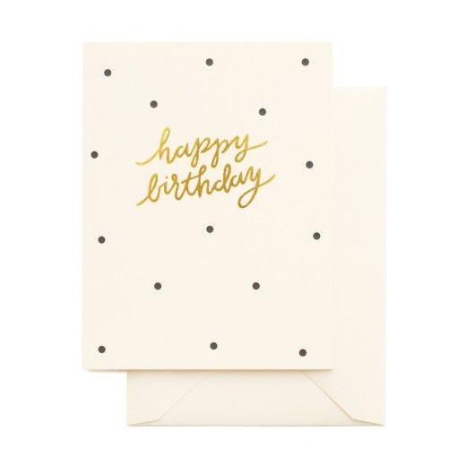 Nest Interiør | Prikkete bursdagskort til store og små fra Sugar Paper - nettbutikk