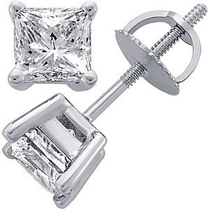 princess cut diamond earring - Google Search
