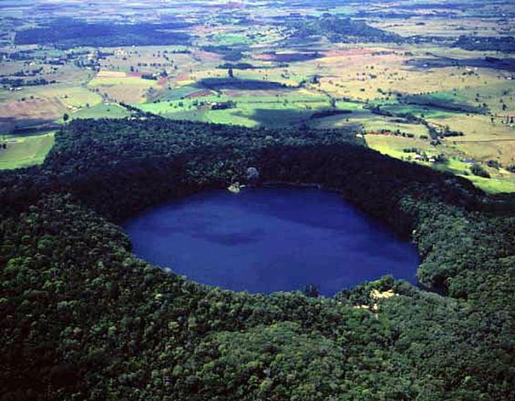 Lake Barrine, Crater Lakes National Park Quueensland. Filled by rainwater only  - no springs , creeks