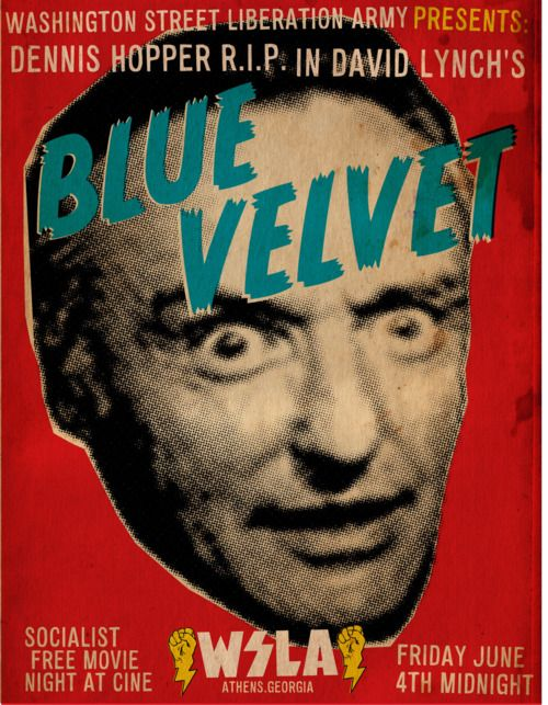 """""""I looked for you in my closet tonight."""" blue velvet movie poster."""
