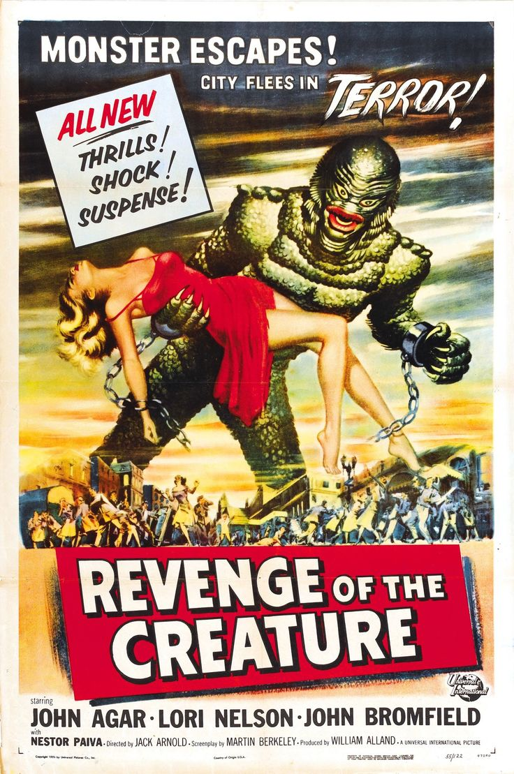English: Poster For The Film Revenge Of The Creature (1955).