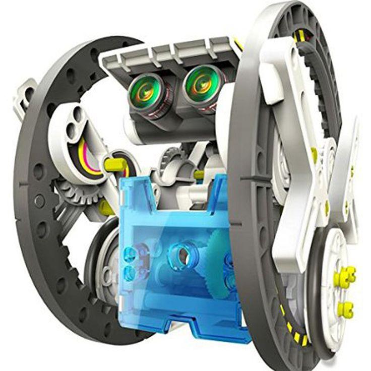 14 en 1 Kit Solar Robot Educativo Robot de Juguete de BRICOLAJE de Energía Solar puzzle montado Juguetes Barco Del Coche Animal bloques Para Kid boy gril Regalo