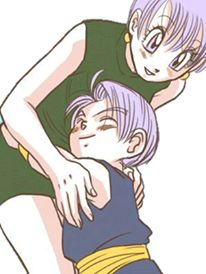 Bulma & Trunks I love whoever draws these