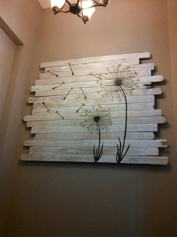 DIY Möbel aus Europaletten – 101 Bastelideen für Holzpaletten - holz paletten möbel selbst basteln DIY ideen wand