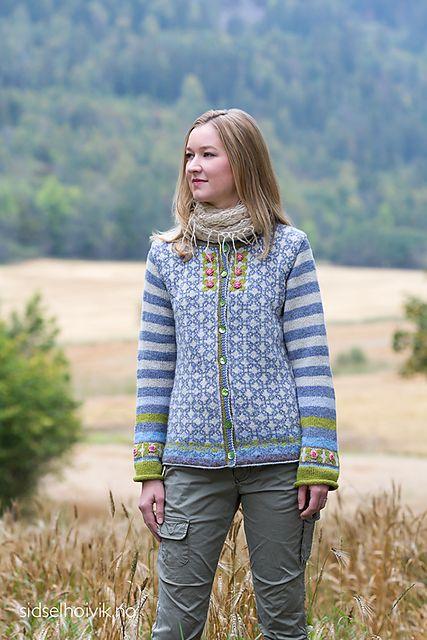Ravelry: Rosenknopp - Rosebud Jacket pattern by Sidsel J. Høivik
