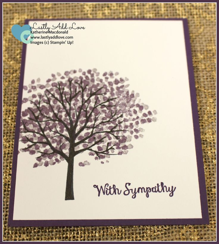 Sheltering Tree Sympathy Card and envelope