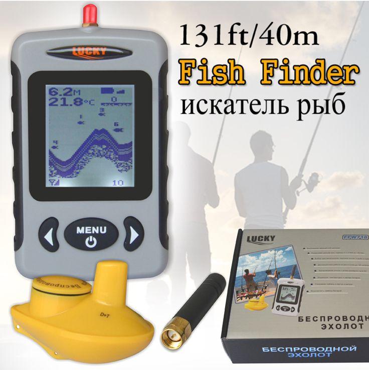 Russian Menu Wireless Sonar Portable Fish Finder Sensor Echo Sounder Alarm River Lake Sea Bed Live 131ft/40M