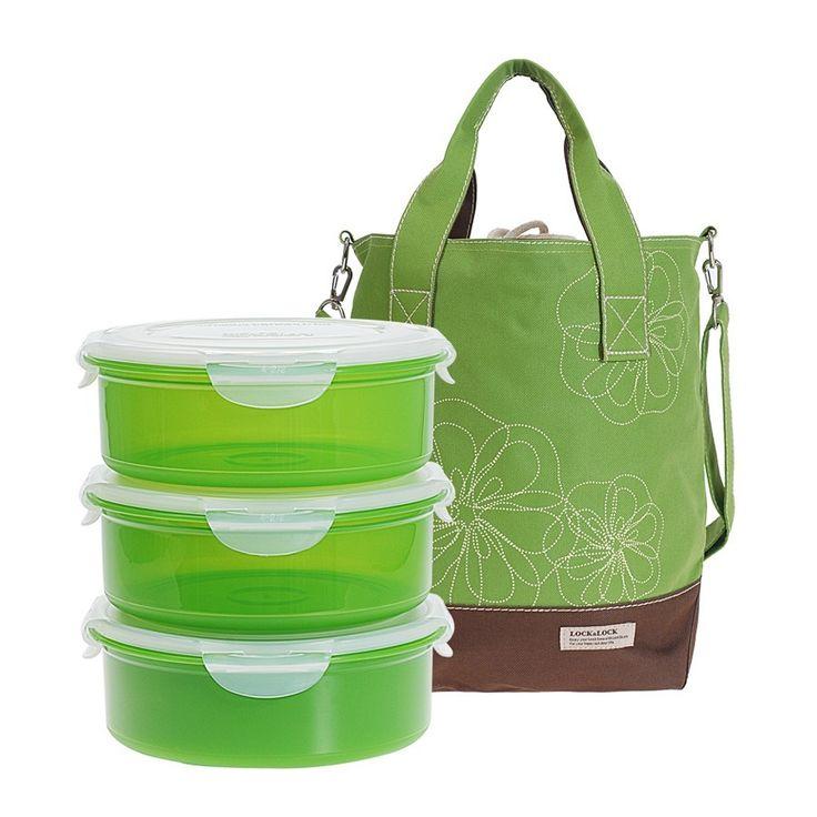 4 Piece Lunch Box & Cooler Bag Set