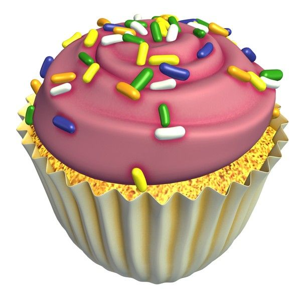 Cupcake, with Sprinkles 3D Model Made with 123D MeshMixer