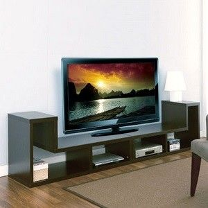 Dual Unit TV Stand in Cappuccino, More Info Here: http://bacheloronabudget.com/living-room/storage-media-units/media-units/dual-unit-tv-stand-cappucino/