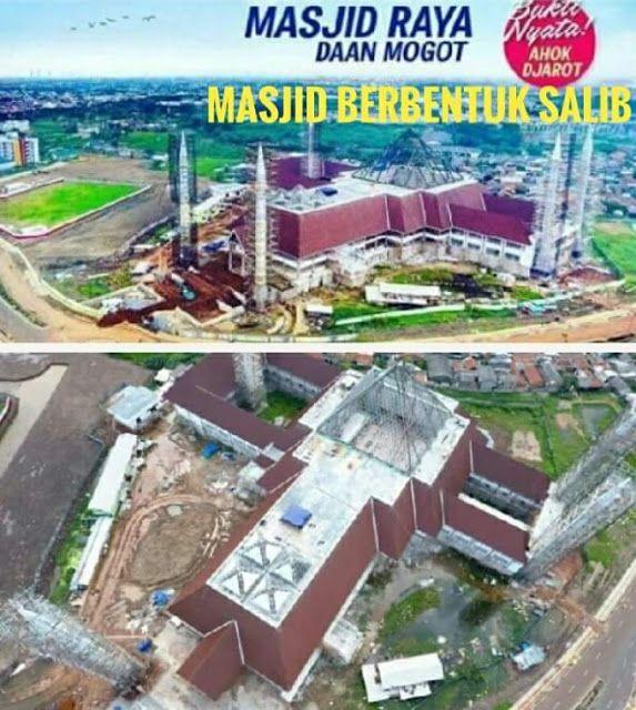 Masjid Raya Jakarta yang Dibangun Ahok Dinilai Mirip dengan Bentuk Salib