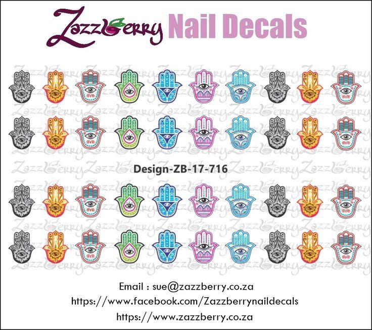 Khamsa Hands Nail Decals, R45.00