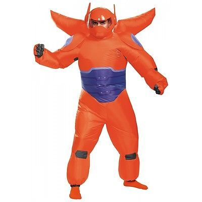 Baymax Costume Adult Inflatable Big Hero 6 Halloween Fancy Dress