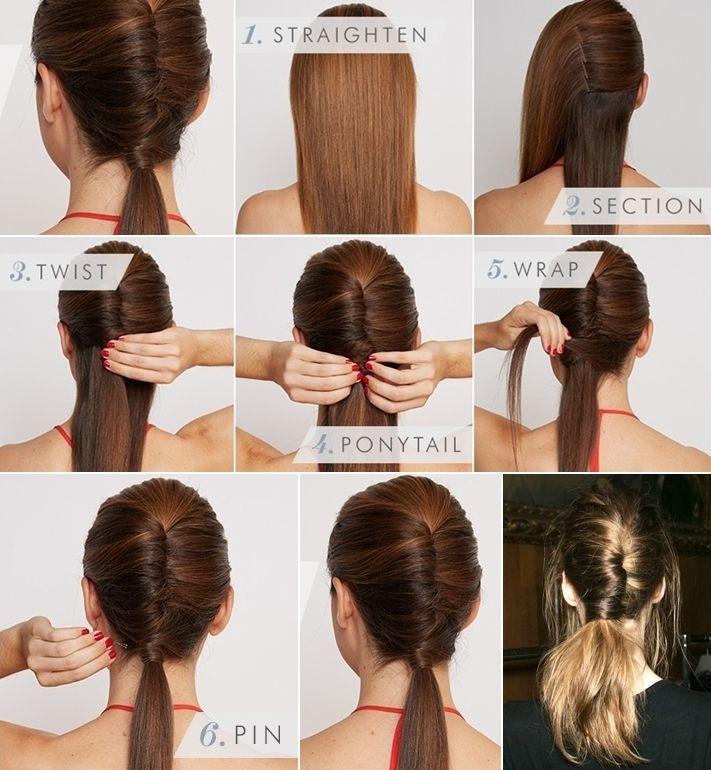 Chic DIY Chignon Ponytail Hairstyle