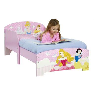 Disney Princess kleuterbed  Je kleine prinses zal heerlijk slapen in dit mooie ledikant van Disney Princess. Het hoofd- en voeteneinde zijn voorzien van sierlijke afbeeldingen.  EUR 159.99  Meer informatie