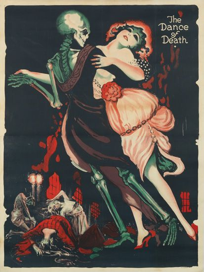 The Dance of Death. This has all the ingredients i love, a little skull, some red, some vintage.