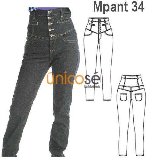 Moldes Unicose Pants Design Pants My Style