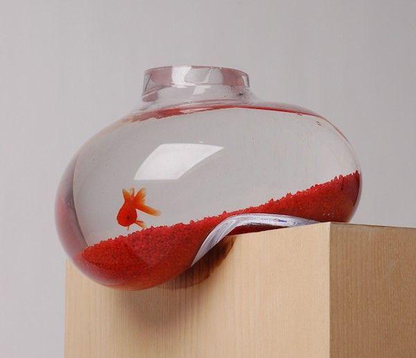 Fun!: Bubbles Tanks, Cool Fish Tanks, Idea, Pet, Aquarium, The Edge, Salvador Dali, Fish Bowls, Goldfish