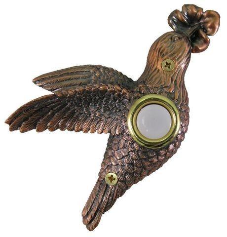 Beautiful Bronze Plated Hummingbird Doorbell W Lit Button