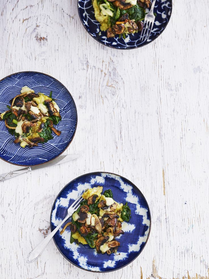 Paddenstoelen-spinazie-ovenschotel