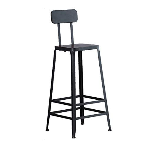 Youyouxiu Bar Stools Dining Chair Metal Wood Lounge Chair Backrest