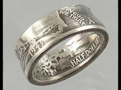Coin Rings handmade from real Silver Coins by CoinCrafter.com - YouTube