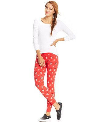 It's raining deers with this Sweater Project Juniors' Holiday Sweater Leggings for $14.99 at Macy's CA @swagbucks  #CandyCaneGang #UglySweater(enya1201)