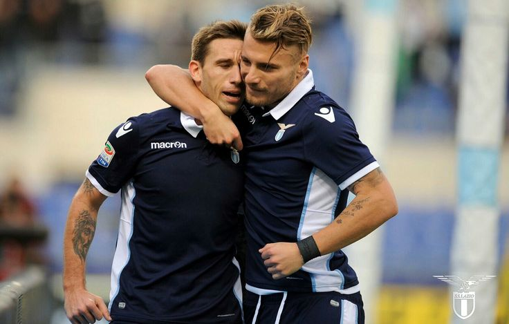 Lazio 16, Lucas Biglia #20 y Ciro Immobile #17