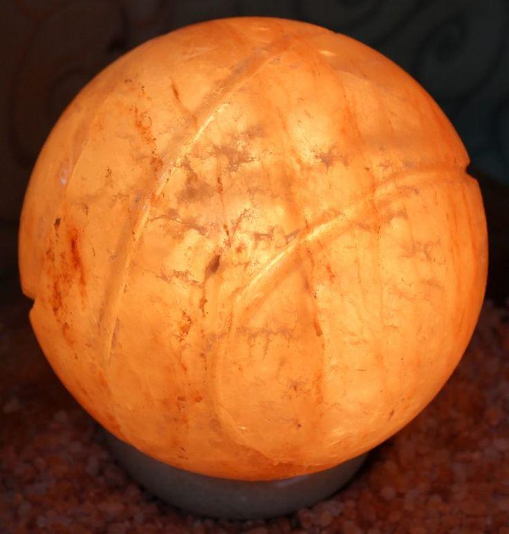 Crafted Himalayan Basketball Salt Lamp | Himalayan Salt Factory