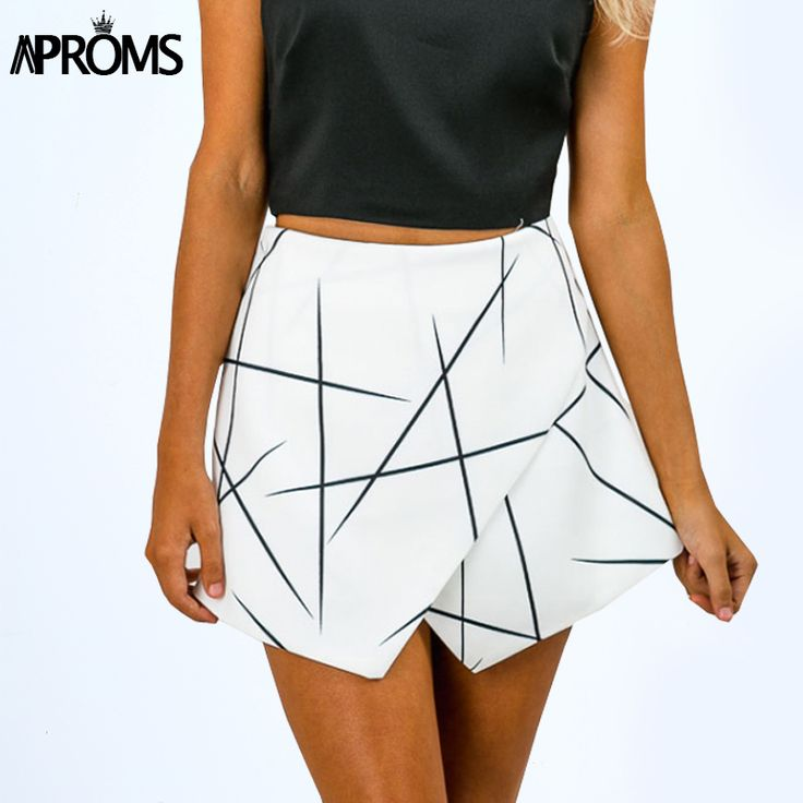 New 2017 Summer Style Shorts Women Sharp Lines Layered Zipper Skort Irregular OL White Culottes Shorts Skirts 70081-in Shorts from Women's Clothing & Accessories on Aliexpress.com | Alibaba Group