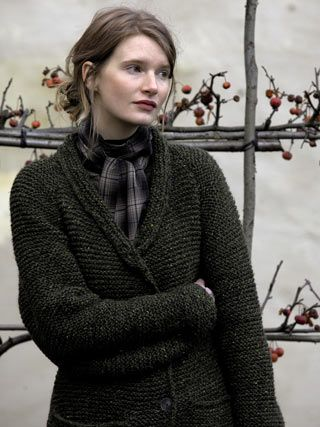 pattern 'Winter Sweet' by Marie Wallin using Rowan yarns and featured in the Rowan knits book, Purelife Autumn.