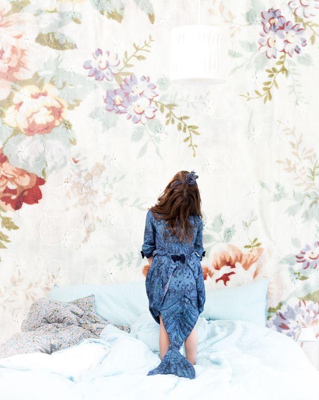Bedroom dreams. Blossom Wallpaper from Mr Perswall,  photo by @Mokkasin