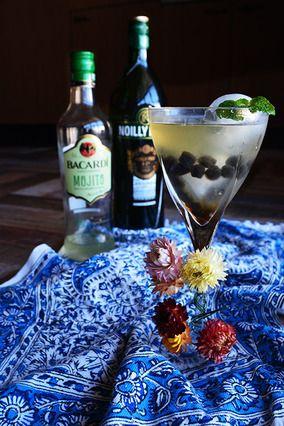 Cocktail モヒート×ヴェルモット+タピオカ×エスプレッソ 夜市の月|レシピブログ