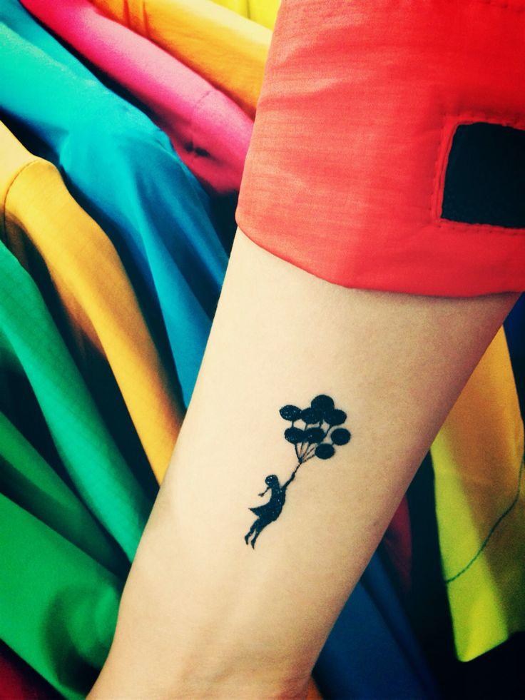 풍선을 탄 소녀 tattoo