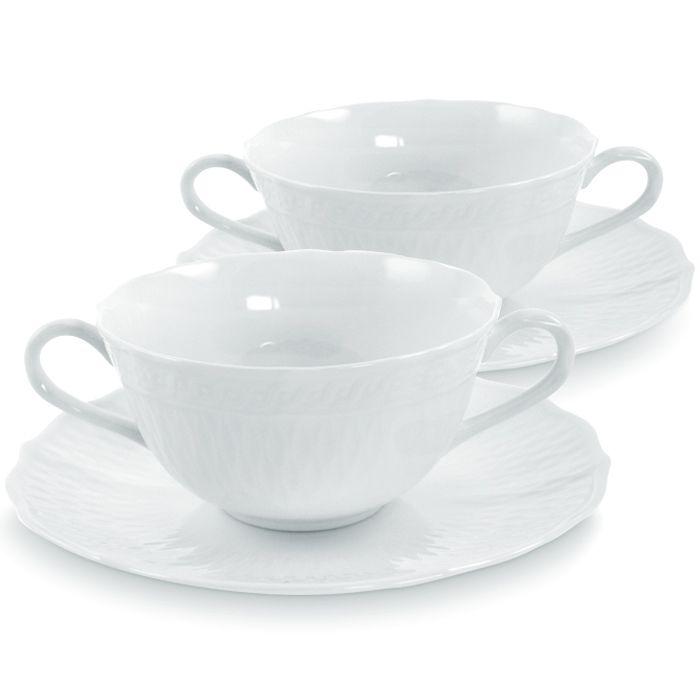 Чашка суповая с блюдцем, 2 шт, Шер Блан
