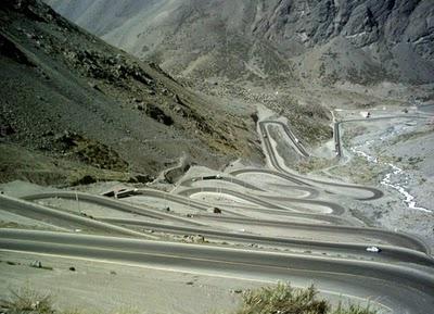 Los caracoles, frontera de Argentina y Chile