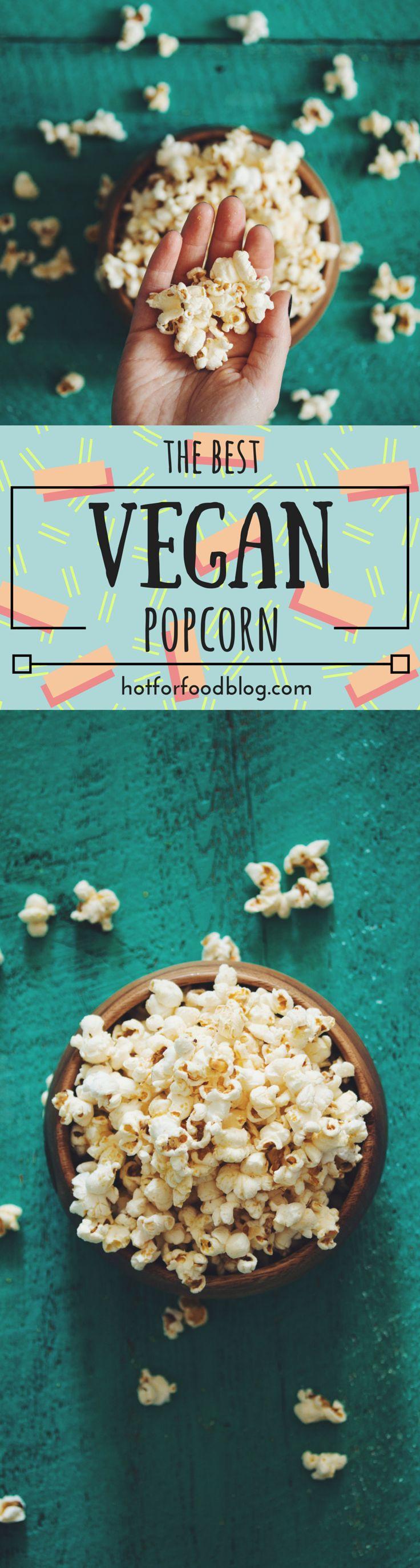 the best vegan popcorn | RECIPE on hotforfoodblog.com