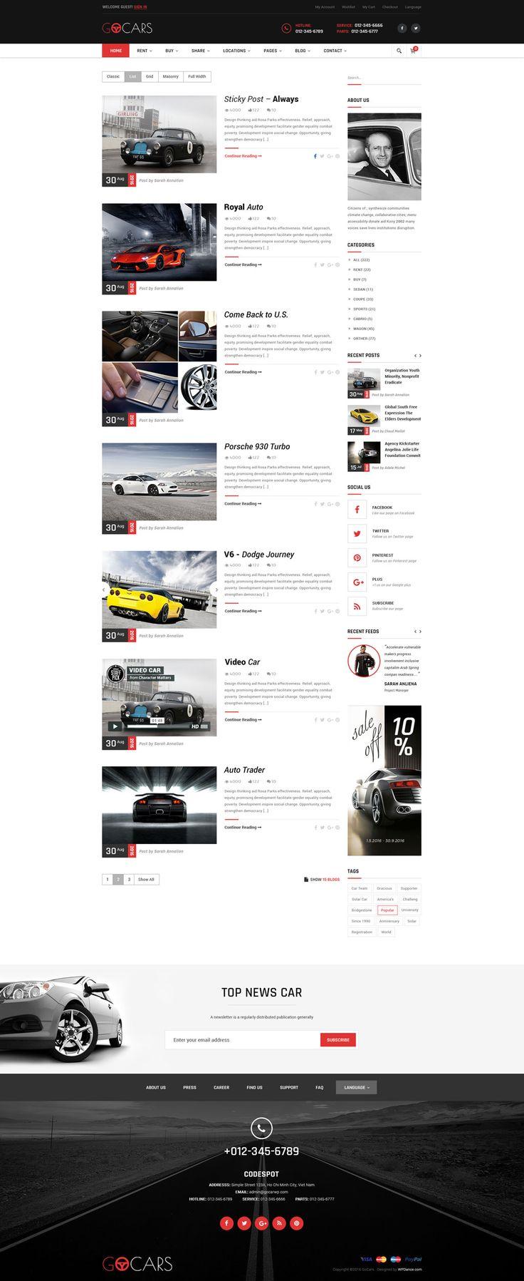 Go cars psd template design for car dealers market