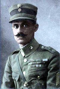 """Nikolaos Plastiras (Greek: Νικόλαος Πλαστήρας) (November 4, 1883 – July 26, 1953) was a Greek general and politician, who served thrice as Prime Minister of Greece. A distinguished soldier and known for his personal bravery, he was known as """"O Mavros Kavalaris"""" (""""The Black Rider"""") during the Greco-Turkish War of 1919-1922."""