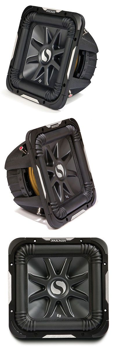 Car Subwoofers: Kicker 11S15l7d4-N Car Audio Solobaric 15 L7 Series Dual 4 Ohm 2000W Sub New BUY IT NOW ONLY: $287.95