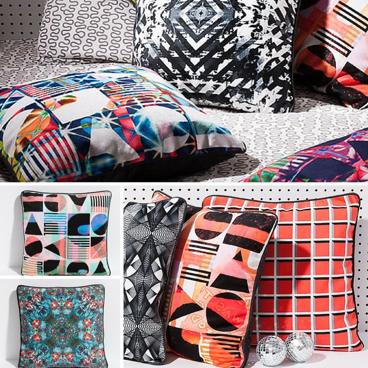 Handcrafted throw pillows by Oden Artisan Antipod. As seen in Gray Magazine and Design Milk $70US http://odengallery.com/vendor/stephanie-symns/